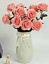 1 Gren Polyester PU Roser Bordsblomma Konstgjorda blommor 24.8\'\')63