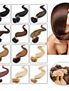 """100pcs 16-24 """"cheveux bresiliens vierges u Astuce fusion extension de cheveux bout d\'ongle extensions de cheveux de fusion keratine 001"""