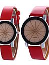 Pentru cupluri Ceas La Modă Ceas de Mână Quartz / PU Bandă Vintage Casual Cool Negru Alb Albastru Violet Mov Negru/Maro Rosu Albastru Roz