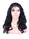 """8 """"-26"""" peruanska jungfru hår förkroppsligar vinkar limfria fullt spets peruk färg svart med baby hår för svarta kvinnor"""
