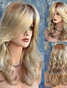 naturlig mellan längd våg blond peruk sexig dialy bär peruk värmebeständigt billiga hög kvalitet