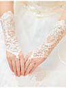 Lungime Încheietură Fără Degete Mănușă Tul Mănuși de Mireasă Primăvară Vară Toamnă Iarnă Pietre Semiprețioase
