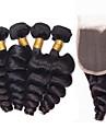 5 delar Löst vågigt Human Hair vävar Brasilianskt hår 0.47 kg 8-24inch Människohår förlängningar