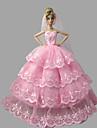 Princesse Robes Pour Poupee Barbie Rose Robes Pour Fille de Doll Toy