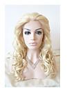 longues perruques synthetiques frisees resistantes sylvia dentelle synthetique perruque avant la chaleur blond