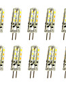 1.5W G4 LED a Double Broches T 24LED SMD 3014 150LM lm Blanc Chaud Blanc Froid Decorative DC 12 V 10 pieces
