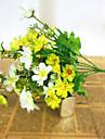 Une succursale Soie Plastique Marguerites Fleur de Table Fleurs artificielles 33*14*3.5cm
