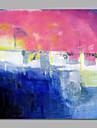 Peint a la main Abstrait / Vacances Peintures a l\'huile,Modern / Style europeen Un Panneau Toile Peinture a l\'huile Hang-peint For