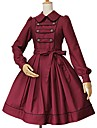 Une Piece/Robes Gothique Lolita Classique/Traditionnelle Princesse Retro Elegant Victorien Rococo Cosplay Vetrements Lolita Couleur Pleine