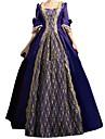 Une Piece/Robes Gothique Lolita Classique/Traditionnelle Princesse Retro Elegant Victorien Rococo Cosplay Vetrements Lolita Bleu Encre