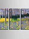 toile set Paysage A fleurs/Botanique Moderne,Trois Panneaux Toile Verticale Imprimer Art Decoration murale For Decoration d\'interieur
