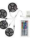 20m (4 * 5m) 5050 rgb 600 leds bande de lumiere flexible conduit lumieres chaine de bandes non etanches 600leds dc 12v avec kit 44key