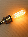 25w ST58 ampoules a incandescence edison 19 e27 soie fil vertical retro ampoules decoratives