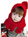 Fete Căciuli & Băști-Iarnă Îmbrăcăminte tricotată Roz Roșu Galben Bej