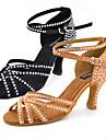 Chaussures de danse(Noir Kaki) -Personnalisables-Talon Personnalise-Similicuir-Latines Jazz Salsa Chaussures de Swing