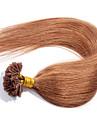 tip hårförlängningar evet obearbetade brasilianska spiken spets hår jungfru människohår u 0,5 g / sträng 100strands / lot