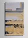 HANDMÅLAD Abstrakt fantasi Vertikal,Moderna Europeisk Stil En panel Kanvas Hang målad oljemålning For Hem-dekoration
