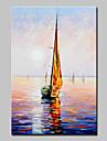 Peint a la main Paysage Paysages Abstraits Peintures a l\'huile,Moderne Style europeen Un Panneau Toile Peinture a l\'huile Hang-peint For