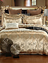 Floral Seturi Duvet Cover 4 Piese Mătase/Amestec bumbac Luxos Jacquard Mătase/Amestec bumbac Întreg Queen4pcs (1 Plapumă Duvet, 1
