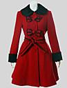 Manteau Lolita Classique/Traditionnelle Retro Cosplay Vetrements Lolita Couleur Pleine Manches longues Moyen Manteau Pour Laineux