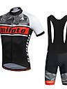 Miloto Maillot et Cuissard a Bretelles de Cyclisme Homme Manches courtes VeloCuissard a bretelles Chemise Shirt Maillot Collant a