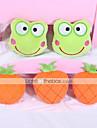 Jucării Cățel Jucării Animale Jucării de Mestecat Jucării pluș Țipăt ascuțit Fruct Textil Portocaliu Verde