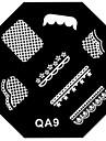 nail art image de timbre estampage plaque de modele