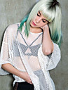europe et aux Etats-Unis le dernier gradient d\'argent herbe verte dans la nouvelle Omber cheveux liu nouveau cheveux courts haute