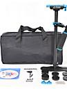 yelangu populaire s60t de stabilisateur de camera en fibre de carbone 60cm avec la couleur bleue support DSLR cameras universelles