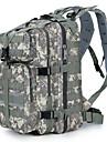 30 L Ryggsäckar till dagsturer Backpacker-ryggsäckar Camping Resa Skola Utomhus Kompakt Grå Khaki grön Svart Mörkgrön Kamoflage Kanvas