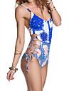 Femei O Piesă Femei Cu Susținere Monocolor Floral Sport Dantelat Polyester