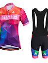 Sports Cycling Jersey with Bib Shorts Men\'s Short Sleeve BikeBreathable / Quick Dry / Moisture Permeability / 3D Pad / Reduces Chafing /