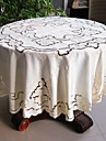 Rond Brode Nappes de table , Polyester MaterielDecoration Soiree Mariage Mariage Banquet Decorations de Noel Tableau Dceoration Mariages