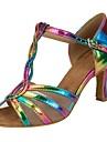 Chaussures de danse(Arc-en-ciel) -Personnalisables-Talon Personnalise-Similicuir-Salsa