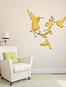 Djur Väggklistermärken Väggklistermärke i spegelstil Dekrativa Väggstickers,Vinyl Material Hem-dekoration vägg~~POS=TRUNC