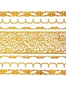 #(1) - Séries bijoux - Doré - Motif - #(15x11.5) - Tatouages Autocollants Homme/Girl/Adulte/Adolescent