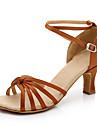 Chaussures de danse(Noir Bleu Marron Rouge Argent Or Leopard Amande) -Non Personnalisables-Talon Cubain-Satin Similicuir-Latines