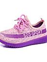 Fille-Decontracte-Bleu Violet Rouge OrangeLight Up Chaussures-Chaussures d\'Athletisme-Tulle
