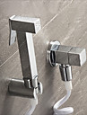 Robinet pour bidet  ,  Moderne Traditionnel  with  Chrome 1 poignee 1 trou  ,  Fonctionnalite  for Montage mural Retractable
