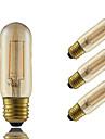 2W E26/E27 Bec Filet LED T 2 COB 180 lm Amber Decorativ AC 220-240 V 4 bc