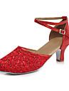 Chaussures de danse(Noir Bleu Rouge Argent Or) -Personnalisables-Talon Cubain-Similicuir Cuir Verni-Latines