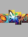 Pictat manual Abstract Orice formă,Modern Patru Panouri Canava Hang-pictate pictură în ulei For Pagina de decorare