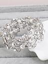 Brățări Brățări Bangle Cristal Aliaj Leaf Shape Natură Nuntă Petrecere Bijuterii Cadou Argint,1 buc