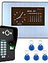 7 LCD de înregistrare HD 1000tvl dvr kit sistem telefonic ușă de recunoaștere a amprentelor digitale interfon video