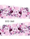 10pcs/set Nail Art-klistermärken Vatten Överföringsdekaler makeup Kosmetisk Nail Art-design