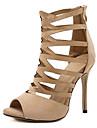 Femme-Habille Soiree & Evenement-Noir Beige Vert-Talon Aiguille-Bride de Cheville club de Chaussures-Bottes-Similicuir