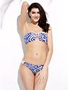 Femei Bikini Femei Bustieră Floral / Geometrică Push-up / Sutiene cu Bureți Nailon