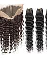 Tissages de cheveux humains Cheveux Indiens Ondulation profonde 6 Mois 4 Pieces tissages de cheveux
