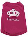 Chat Chien Tee-shirt Rouge Rose Vetements pour Chien Ete Printemps/Automne Tiares & Couronnes Mode Decontracte / Quotidien