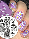 arbre banane plaque d\'image modele stamping nail art plaque de tampon a ongles